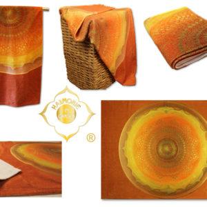 Badetuch Harmonie im Ganzen Mandala Muladhara_Collage